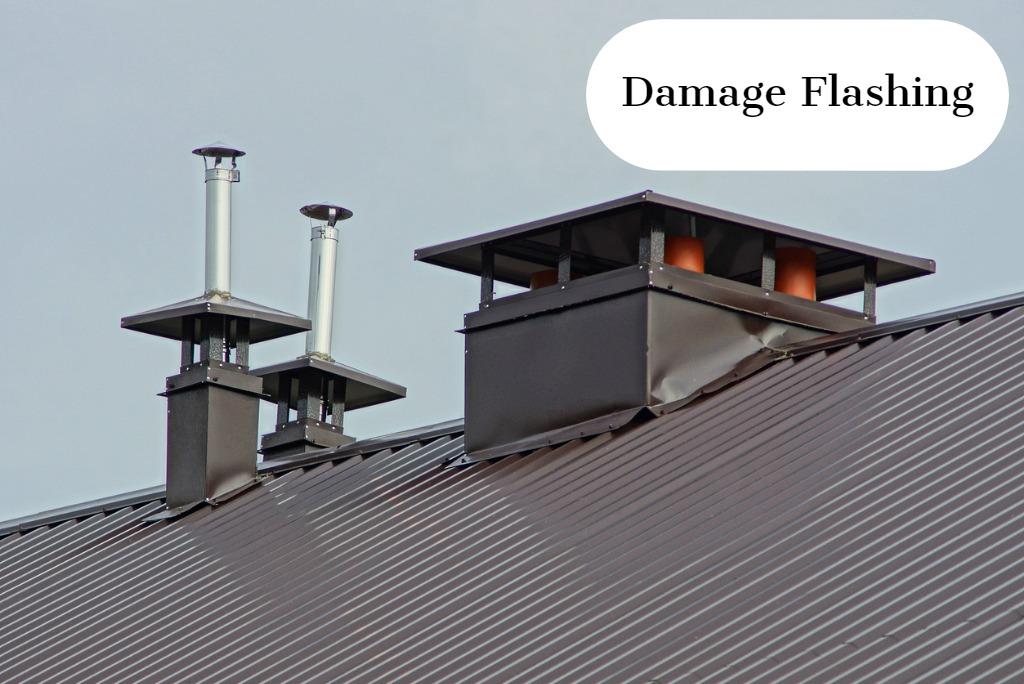 damaged, aged or rusted flashing